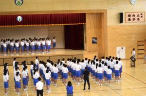 7月9日 県中体連夏季大会・吹奏楽コンクール県大会壮行式