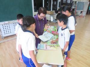 8月23日 4年生対象「三戸町小学生おはなし会」