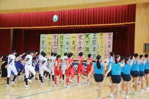 7月16日 三戸郡中体連競技会壮行式